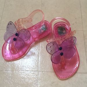 """NWT"" Butterfly ""Light-up""Jelly Sandals sz.5/6(S)"